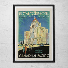 TORONTO Travel Poster - Royal York Hotel Travel Print - Professional Reproductio