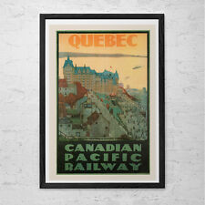 QUEBEC CITY Travel Poster - Quebec Travel Print - Professional Reproduction Cana