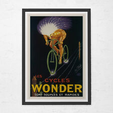 CLASSIC BICYCLE POSTER - Wonder Bicycles Poster - Art Nouveau Poster, High Quali