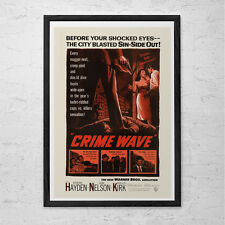CLASSIC MOVIE POSTER -  Crime Wave Movie Poster -  Retro Movie Poster Film Noir
