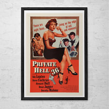 CLASSIC MOVIE POSTER -  Private Hell Movie Poster - Retro Movie Poster Classic F