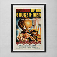 INVASION of the SAUCER MEN Movie Poster - B-Movie Poster - Retro Cult Movie Post