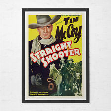 WESTERN MOVIE POSTER - Tim McCoy Poster - Straight Shooter Movie Poster - Cult M