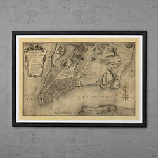 Antique NEW YORK Map - Antique Map Print - Professional Reproduction - Vintage N