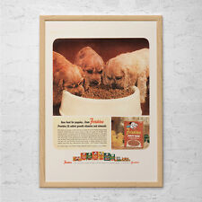 FRISKIES DOG FOOD Ad - Retro Puppies Poster - Mad Men Poster Retro Dog Poster Re
