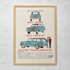 VINTAGE JEEP ADVERTISEMENT - Retro Car Ad - Retro Classic Jeep Ad Mid-Century Po