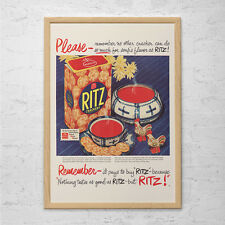 VINTAGE RITZ CRACKERS Ad - Retro Food Ad - Food Lover Poster Retro Kitchen Poste