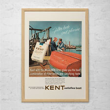 KENT CIGARETTE AD - Kent Cigarettes Advertisement - Mid Century Ad Classic Cigar