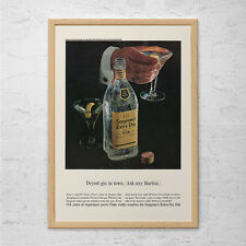 VINTAGE SEAGRAMS AD - Mid Century Wall Art - Retro Bar Decor, Barware Decor, Bar