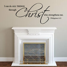 Vinyl Decals Quotes Wall Decal Christian I can do all things through Christ