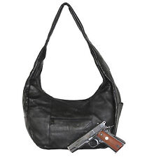 Concealed Carry Purse - Leather Concealment Hobo Purse - CCW - South Bay Leather