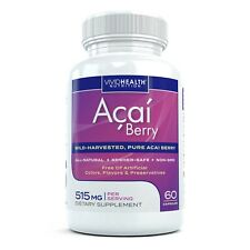 Acai Berry Premium Superfood Supplement by Vivid Nutrition 30 capsules