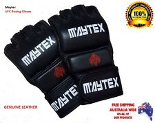 Leather MMA Gloves Professional UFC Boxing  Sparring Gloves