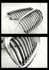 BMW E90 GRILLE 335 330 LCI 2010-11 ORIGINAL STYLE CHROME + BLACK FINS SLATES