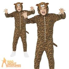 Childrens Tiger Onesie Costume Kids Boys Girls Book Week Fancy Dress Outfit New