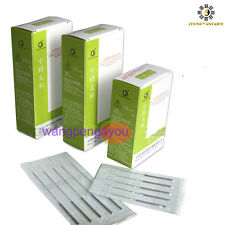Disposable Acupuncture Single Use Needles with no tube 100 /Box BLISTER PACKAGE
