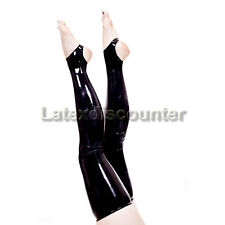 Latex Rubber Stockings Clinic Stockings Socks Super long Open S M L XL