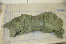 reserve parachute military green nylon rip stop cut lines bag hardware damaged