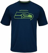 Seattle Seahawks NFL Majestic Skill In Motion Mens Navy Shirt Big & Tall Sizes