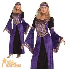 Adult Ladies Medieval Maiden Costume Renaissance Princess Fancy Dress Outfit New