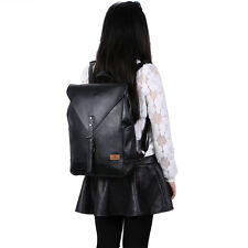 PU leather School College Book Bag Daypack Laptop Backpack For Camping Travel