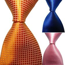 Fashion Classic Checks Tie JACQUARD WOVEN Men's Silk Suits Ties Necktie S58
