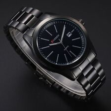 Men's Watches Stainless Steel Band Date Analog Quartz Military Sport Wrist Watch