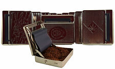 ENGRAVED  METAL TOBACCO CIGARETTE ROLLING MACHINE AUTOMATIC ROLLER TIN HOLDER