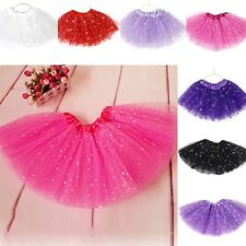 2-7Y Girls Princess Glitter Tutu Skirt Kids Party Ballet Dance Wear Pettiskirt