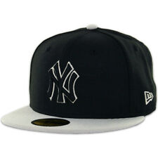 New Era 59Fifty New York Yankees Two Tone Fitted Hat (BK/BK/GY-GY) MLB Black Cap