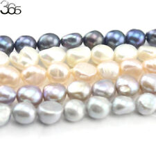 """Jewelry Making DIY  Natural Freeform Freshwater Pearl Beads 10-11mm Strand 15"""""""