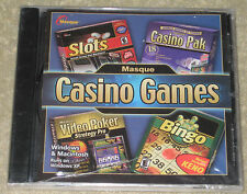 Masque Casino Games: Four Great Titles in One (Windows/Mac, 2004) Brand New