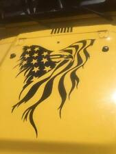 Eagle American Flag Hood Decal large Auto graphic fits jeep truck car trailer V2