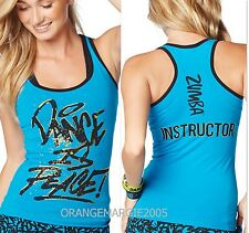Zumba Fitness® Zin Exclusive~INSTRUCTOR'S RacerBack Top Tank ~DANCE IS PEACE M L