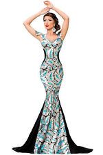 Silver Sequin Embellishment Elegant Mermaid Evening Gown LC60844 women party new