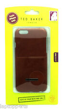 Genuine TED BAKER Brown Leather Effect Case Cover For Apple iPhone 6 4.7'' 6S