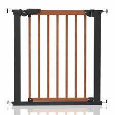 New BabyDan Pressure Fit Avantgarde Baby Safety Stair Gate Cherry Wood & Black