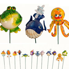 Exhart Garden Stakes Fun Fish - Pack of 12 Individual Designs - NEW
