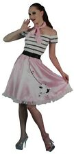 Nifty Fifties Pink Poodle Women 50s Grease Rock And Roll Swing Girl Costume Set
