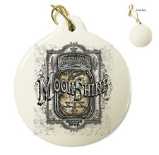 Moonshine Mason Jar - Christmas Xmas Tree Porcelain Ornaments