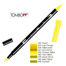 Tombow Dual Brush Pen Yellow shade  ABT 020 to 098