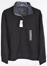 Nautica Sweatshirt Sweater Mens Black Long Sleeve 1/4 Zip Pullover NEW 5270