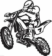 Motocross motorcycle dirt bike freestyle action stunt vinyl wall sticker decal