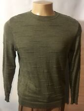 MENS PAL ZILERI CREWNECK SWEATER SIZE L MADE IN ITALY 100% WOOL GREEN #082