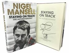 Signed Book - Staying on Track by Nigel Mansell The Autobiography