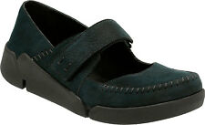 Clarks Womens Tri Amanda Casual Black Leather Sports Strappy Shoe