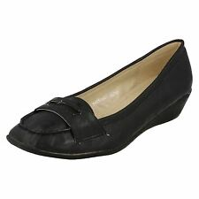 Womens Spot On Moccasin Shoes