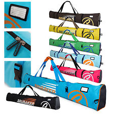 """BRUBAKER 'Champion 2.0' Single Ski Bag Padded for1 pair of Skis up to 67"""" or 75"""""""