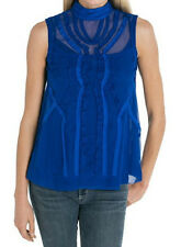Nanette Lepore 100% Silk Call the Shots Cobalt Blue Blouse - ON SALE NOW
