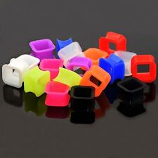 2PCS Tunnel Plugs Silicone Square Ear Strecther Ear Expander Punk Style Earring